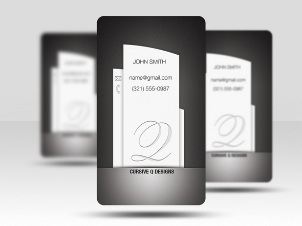 Vertical Free Business Card psd