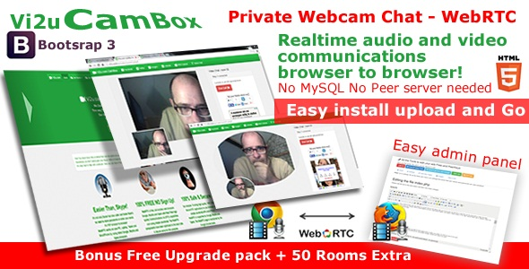 Vi2u CamBox Private Webcam Chat - WebRTC