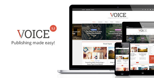 Voice - Clean News Magazine WordPress Theme