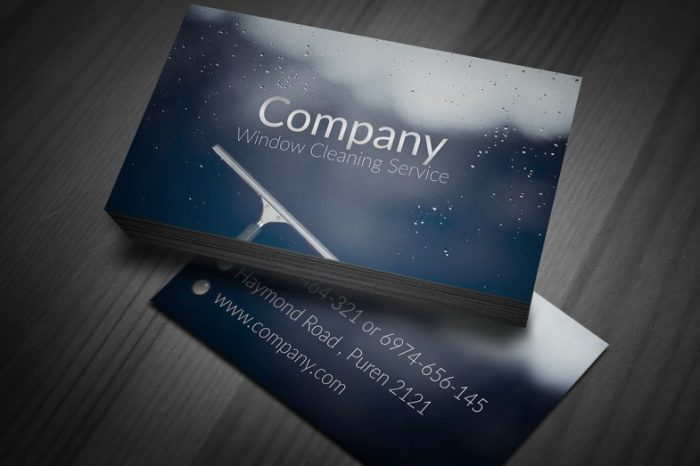 130 best free psd business card templates techclient window cleaning business cards accmission Images