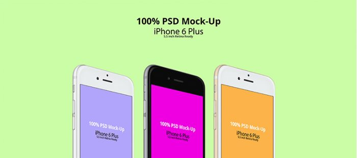 iPhone 6 Plus PSD Mock-Up