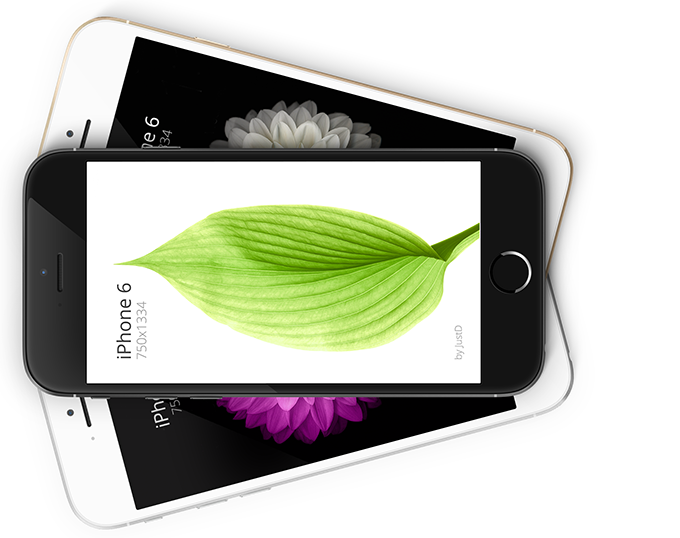iPhone 6 - Scalable Mockups 4.7