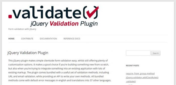 jQuery Validation Plugin
