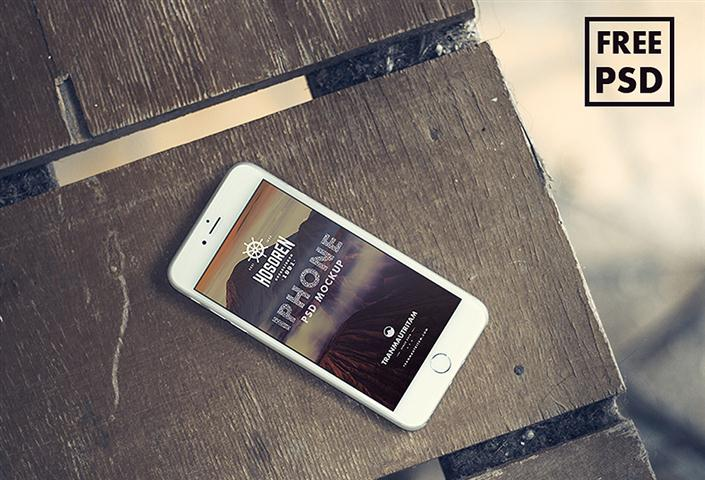 10 Free iPhone 6 PSD Mockups (Small)