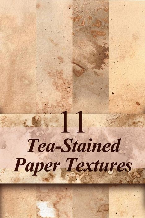 11 Free Tea-Stained Paper Textures (Custom)