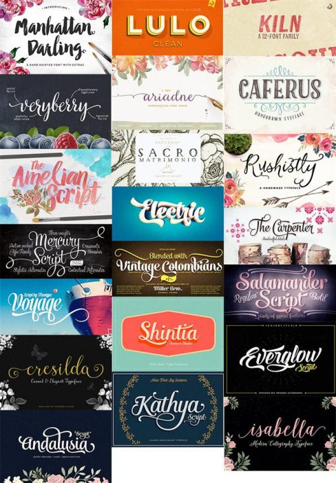 22 Best Selling Beautiful Fonts (Custom)
