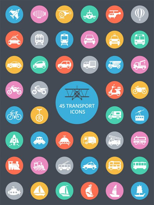 45 Free Transport Icons