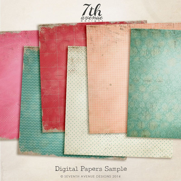 6 Free Digtial Papers Textures