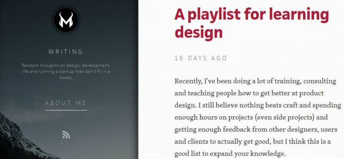 A Playlist for Learning Design