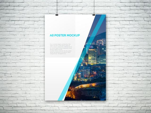 A0 PSD Poster Mockup (Small)
