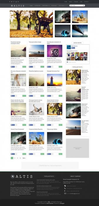 Altis Magazine Blogger Template