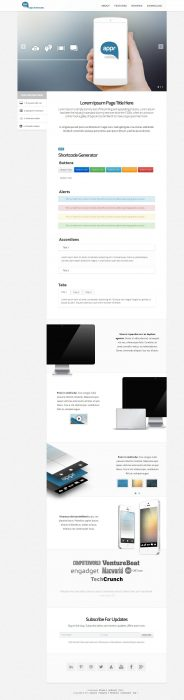 Appr - One Page WordPress Showcase Theme for Apps