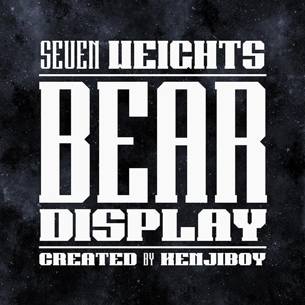 Bear Display Font (Custom)