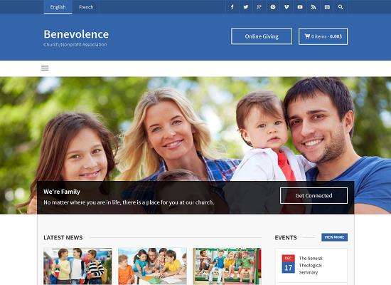 Benevolence - Church  Nonprofit WordPress Theme