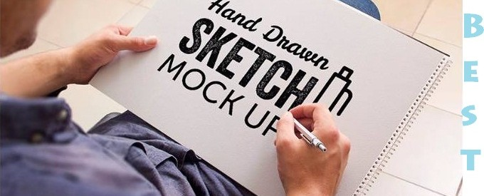 Best Hand Drawn Sketch PSD MockUp