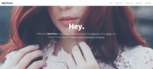 Big Picture HTML5 Template