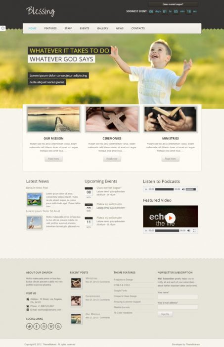 Blessing Premium Responsive WordPress Theme