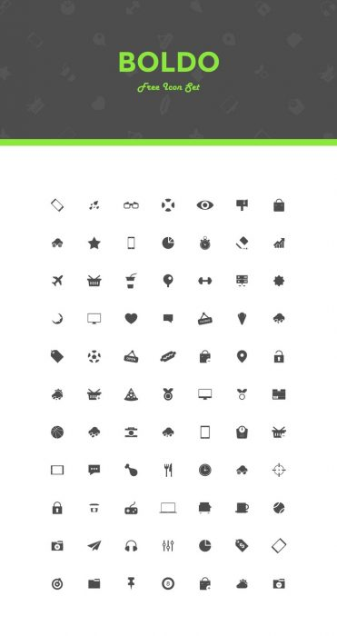 Boldo - Free Icon Set