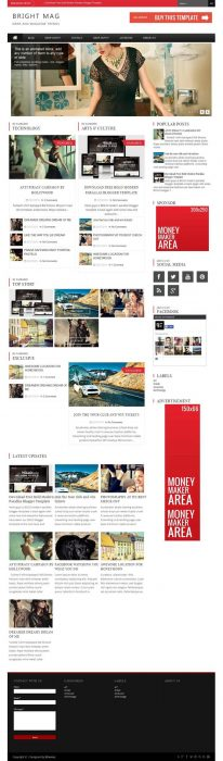 Bright Mag Responsive Magazine Blogger Template
