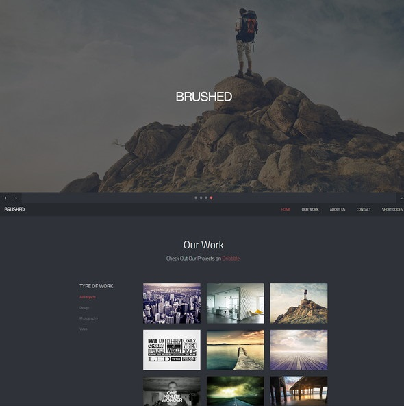 Brushed  Responsive One Page Template