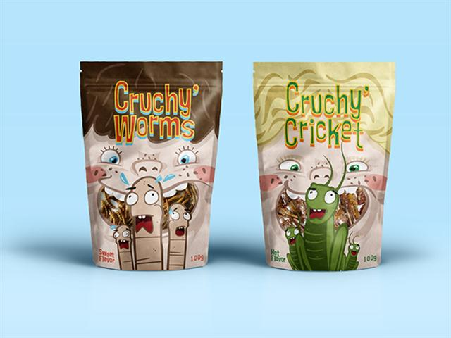 CRUCHY  INSECT CANDY - Packaging