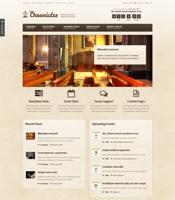 Chronicles - Premium WordPress Church Theme