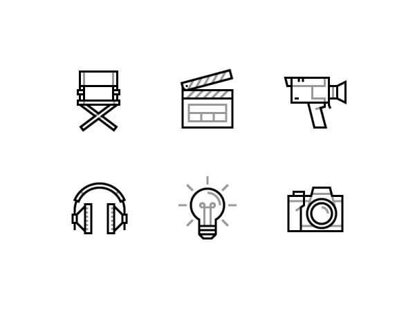 Cinema icons - Free