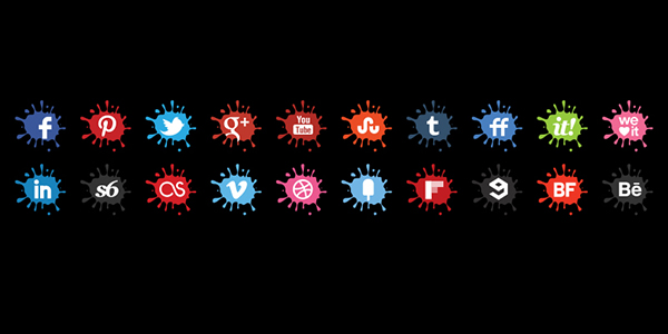 Creative Blot Icons Set