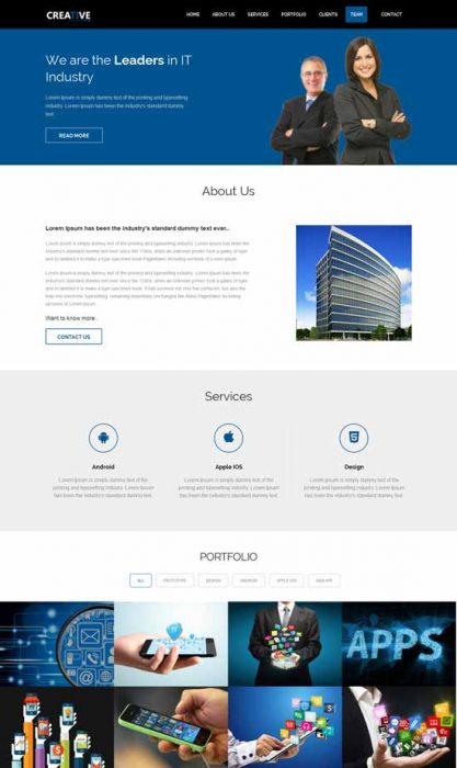 80 best free responsive html5 templates techclient creative free responsive html5 business template friedricerecipe Choice Image