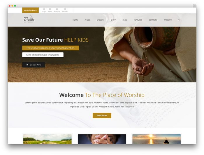 Deeds- Best Nonprofit Church Organization WP Theme