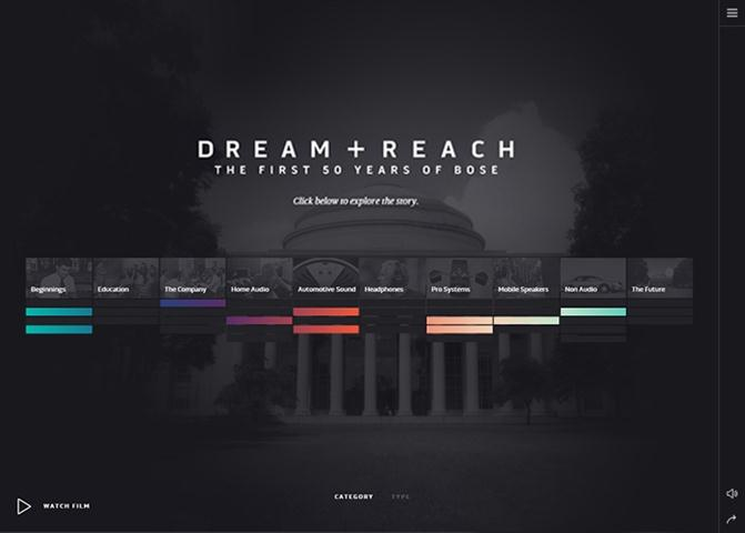 Dream + Reach The first 50 Years of Bose (Small)