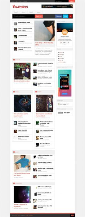 Generous Free Magazine Blogger Templates Ideas - Entry Level ...