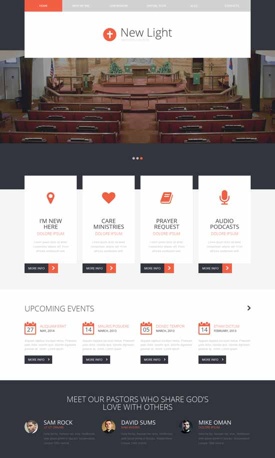 Enlightenment Faith Modern Church WordPress Theme
