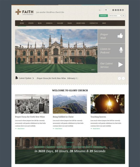 Faith - Multi Purpose WordPress Theme for Churches