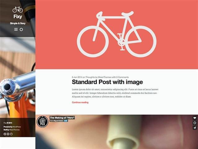 Fixy WordPress Blog Theme (Small)