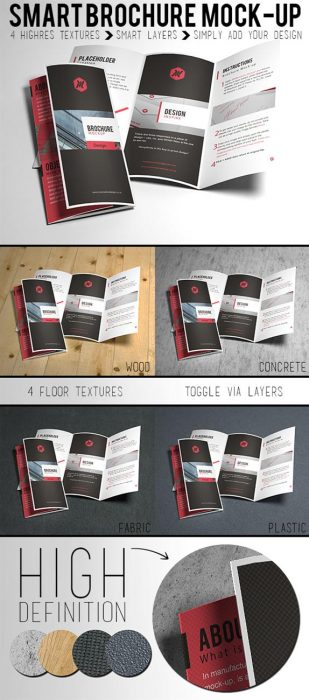 Free Brochure Mock-up (Custom)