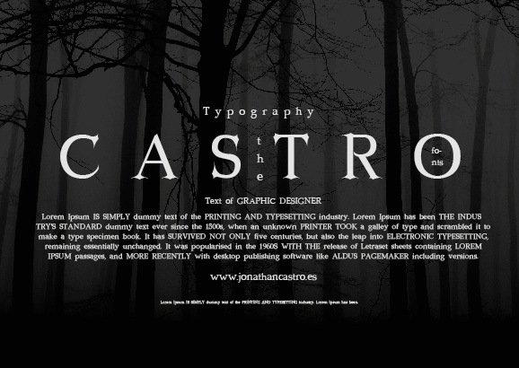 Free Font Castro