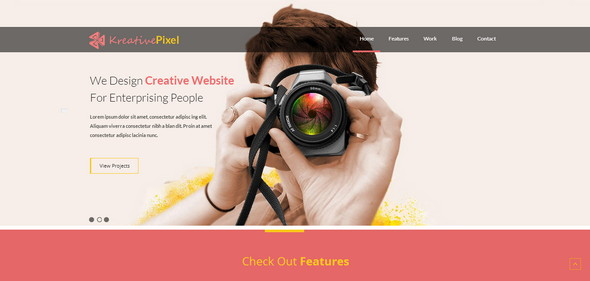 Free HTML Photography Mobile Website Template