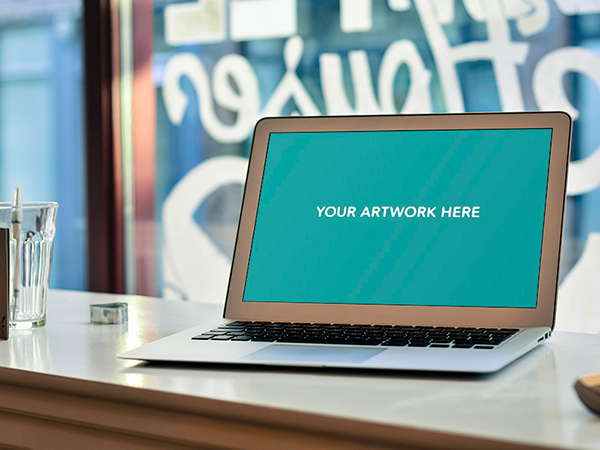 Free Macbook Air 13inch PSD Mockup