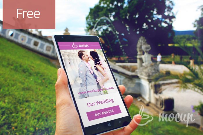 Free Mobile Mockup Wedding
