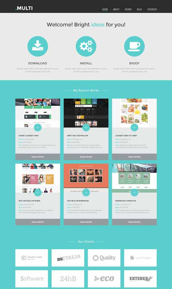 Free Multi Web Design WordPress Theme