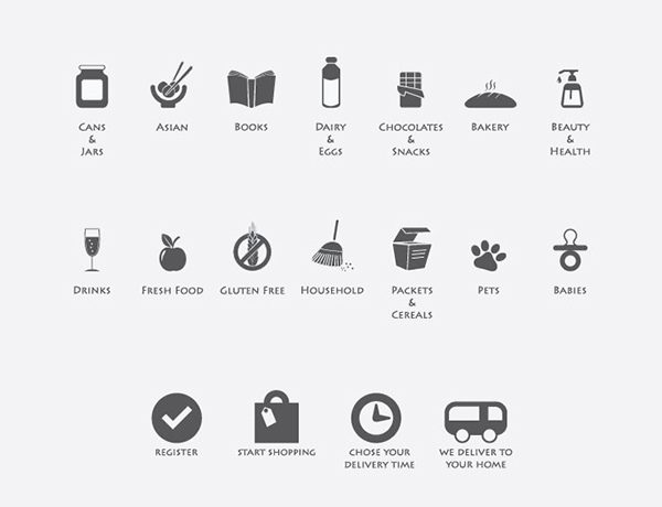 Free Online Grocery Icons