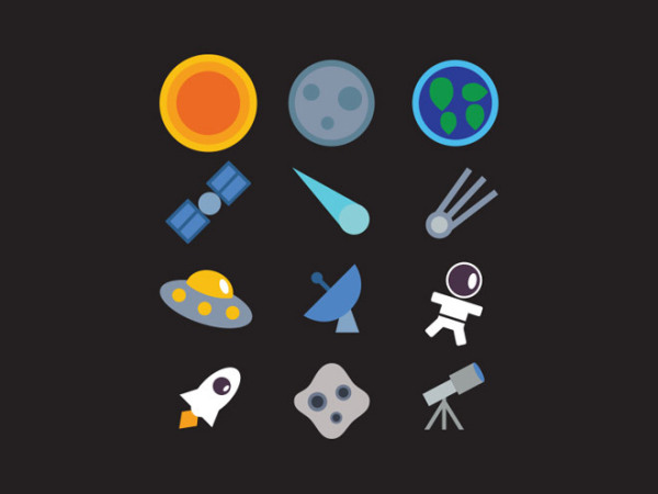 Free Space icon Set (Vector)