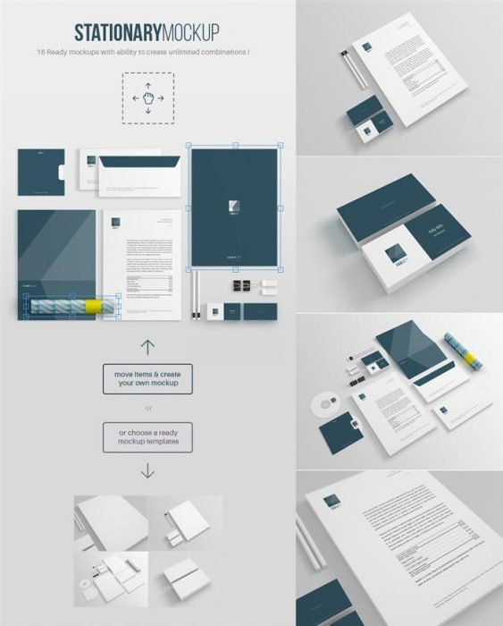 Free Stationery Mockup (Custom)