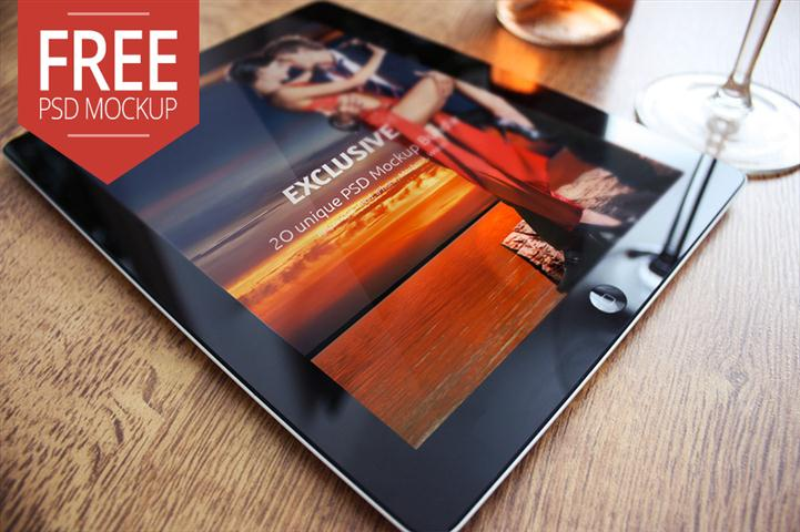 Free iPad 2 Mockup Exclusive (Small)