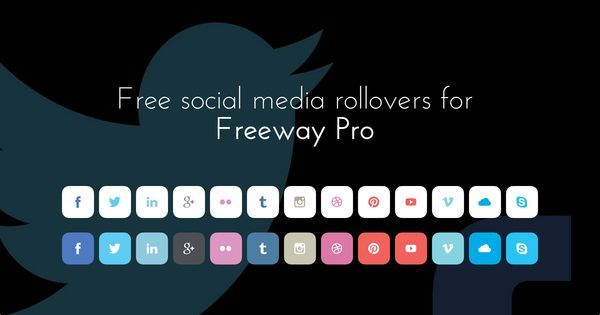 Free social media rollovers for Freeway Pro