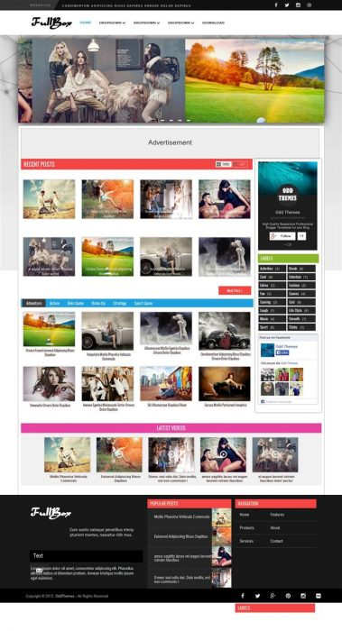 FullBox Magazine Blogger Template