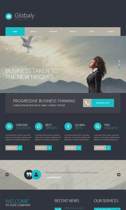 Globaly – Free WordPress BusinessTheme