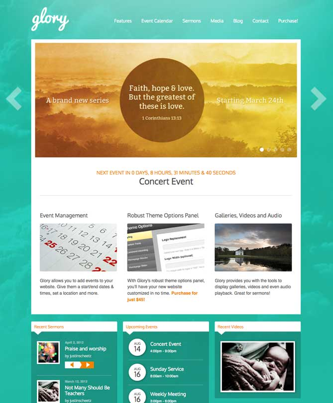 Glory – WordPress Church Themes