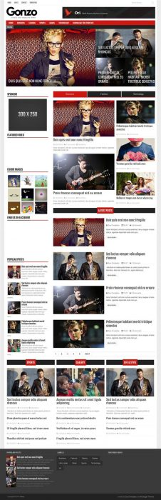 Gonzo Responsive Magazine Blogger Template